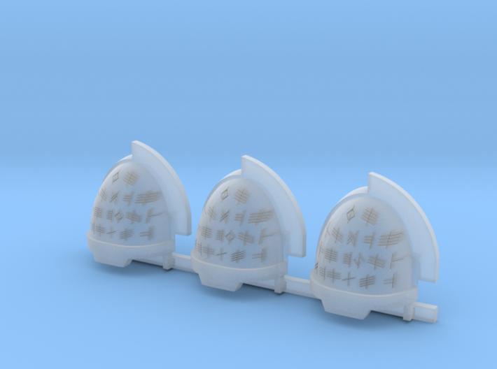 Runes Aggressive shoulder pads R 3d printed