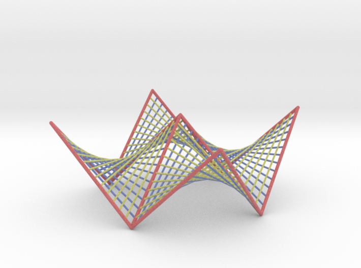 Hyperbolic Paraboloid Doubly Ruled Surface Custom1 3d printed