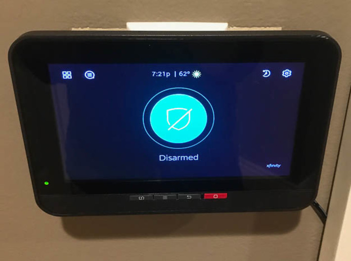 Xfinity Security Touchscreen Wall Mount 3d printed