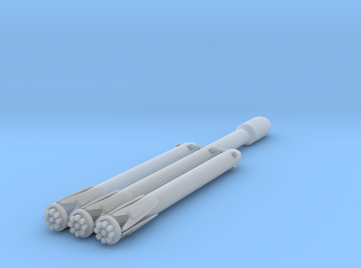 1:600 Miniature SpaceX Falcon Heavy Rocket 3d printed