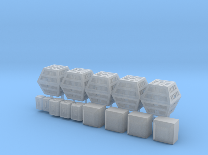 SPACE 2999 1/48 BOXES DIORAMA SET 3d printed