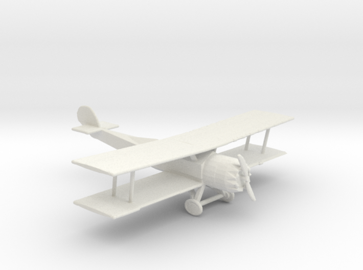 HO Scale Biplane 3d printed This is a render not a picture
