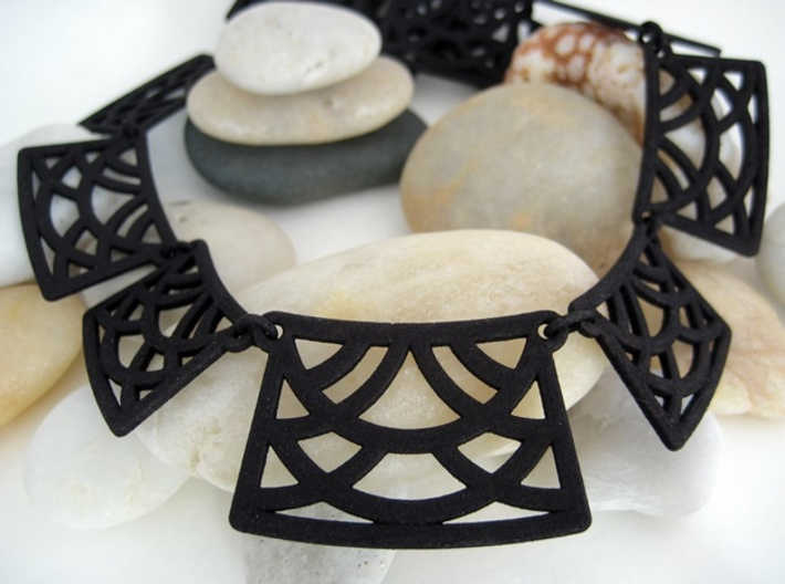 Necklace -  Statement necklace ready to wear 3d printed