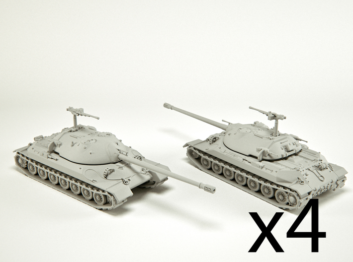 IS-7 Heavy Tank Scale: 1:285 (x4) 3d printed