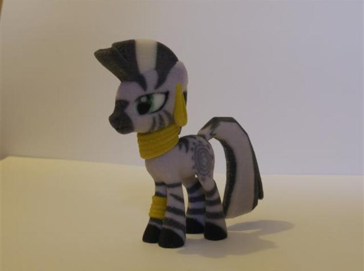 My Little Pony - Zecora (≈72mm tall) 3d printed Polished Silver