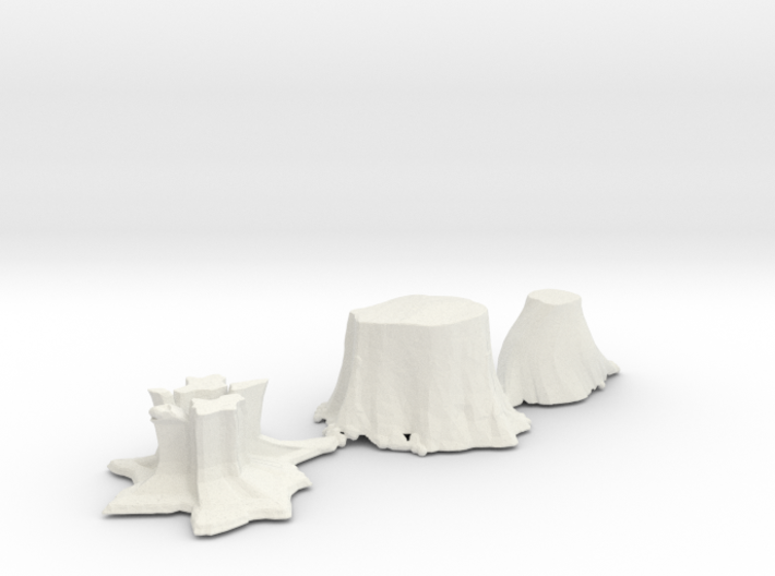 S Scale stumps 2 3d printed This is a render not a picture