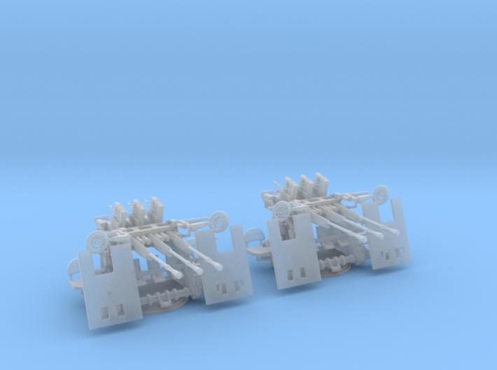 1/72 IJN Type 95 25mm Triple MG Set x2 3d printed