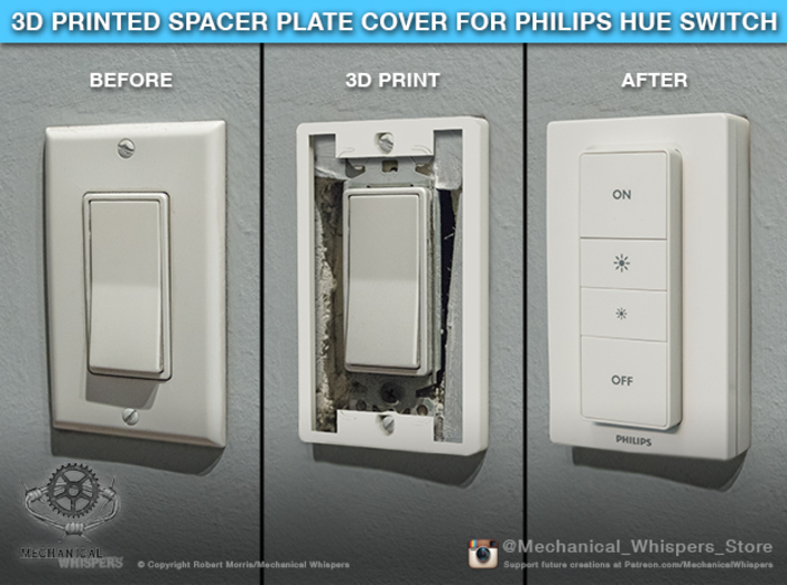 Philips Switch Decora Plate (Set of 4 Discounted) 3d printed