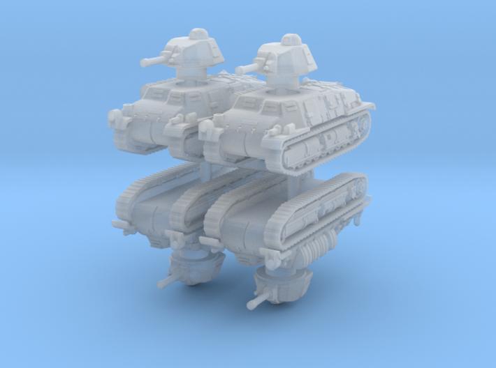 Somua S35 (4 pieces) 1/160 3d printed