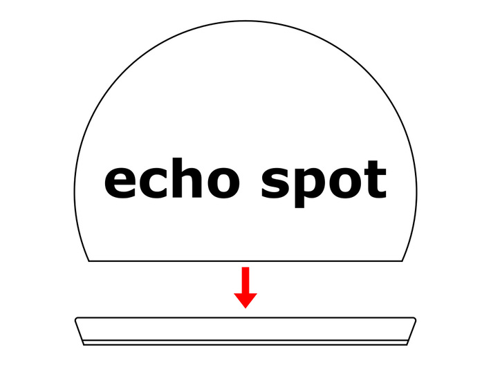 Echo Spot camera cover【drop】 3d printed mounting