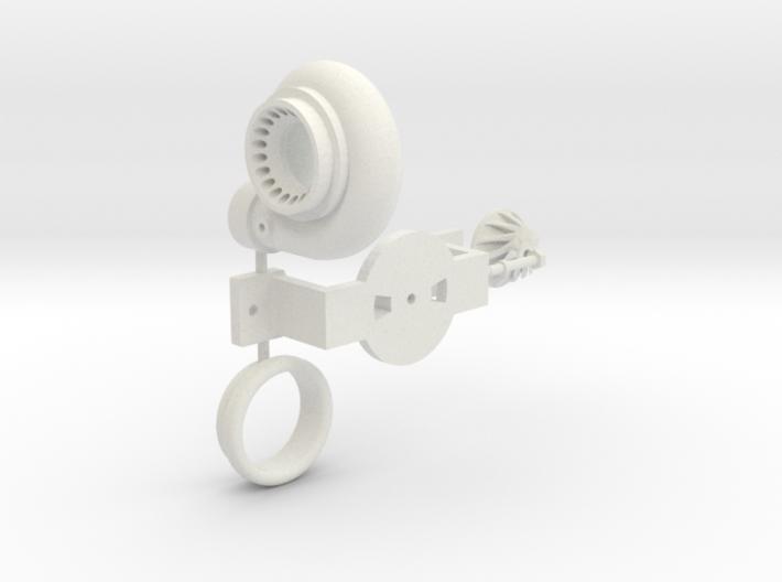 PM031-RC Pro Mod Single Turbocharger Set 3d printed