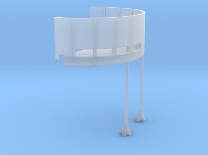 1/96 USN Fletcher deck 20mm tub starboard 3d printed