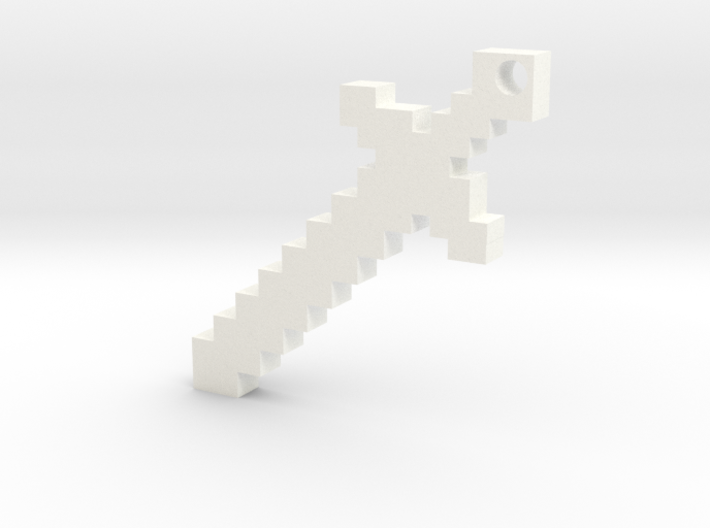 Minecraft Sword Keychain 3d printed