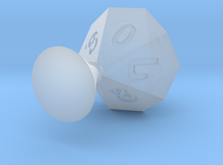 d10 0-9 with sprue for mold making 3d printed