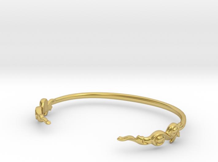 Grace Cuff Bracelet 3d printed