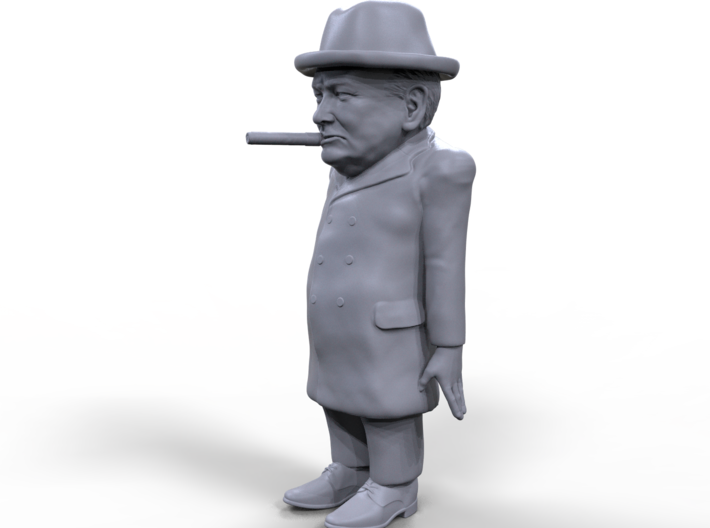 Winston Churchill stylized miniature 3d printed