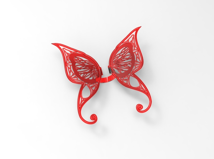 Butterfly Ring 3d printed