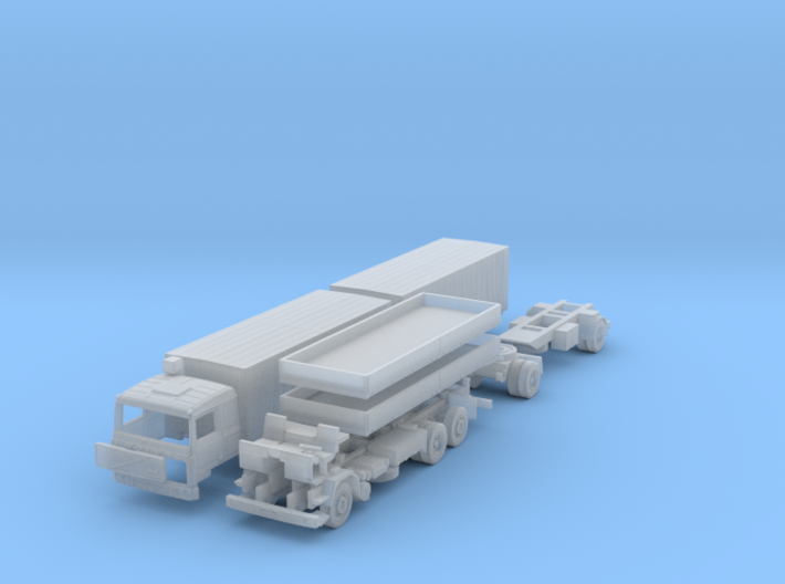 SET Volvo F10 6x2 Pritsche Plane mit Anhänger (TT) 3d printed