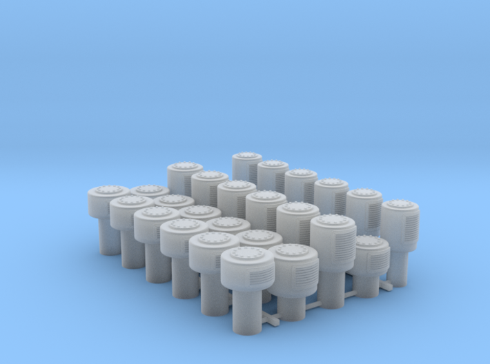 1/35 Royal Navy Small Mushroom Vents x30 3d printed 1/35 Royal Navy Small Mushroom Vents x30