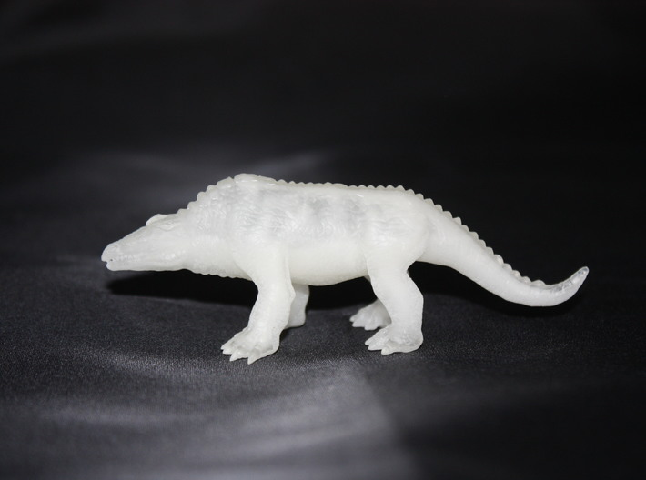 Crystal Palace Megalosaurus  3d printed Fine detail plastic side view