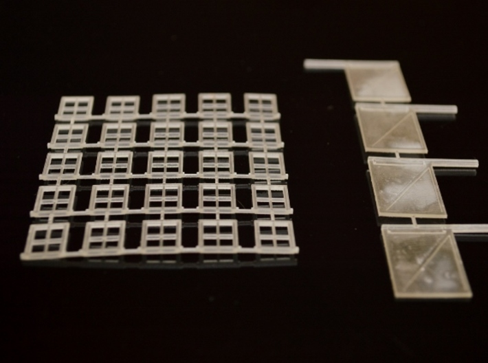 N-Scale Box & Crate Factory Details 3d printed Box & Crate Factory - Windows & Doors (Available Seperately)