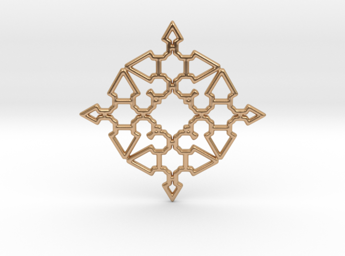 Arrow Mandala Pendant 3d printed