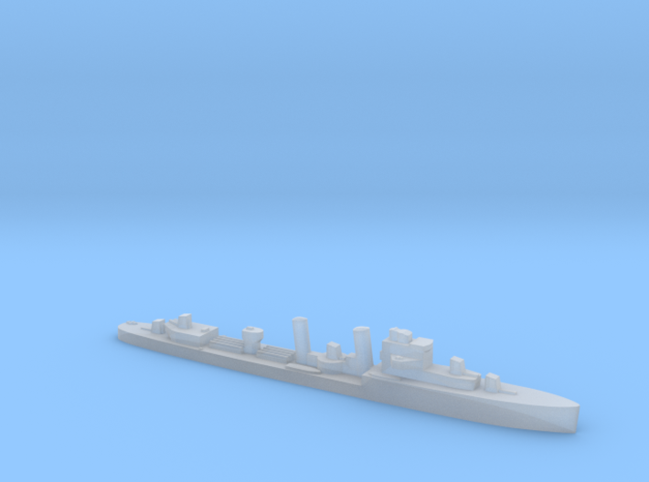 HMS Exmouth 1:1800 WW2 destroyer 3d printed