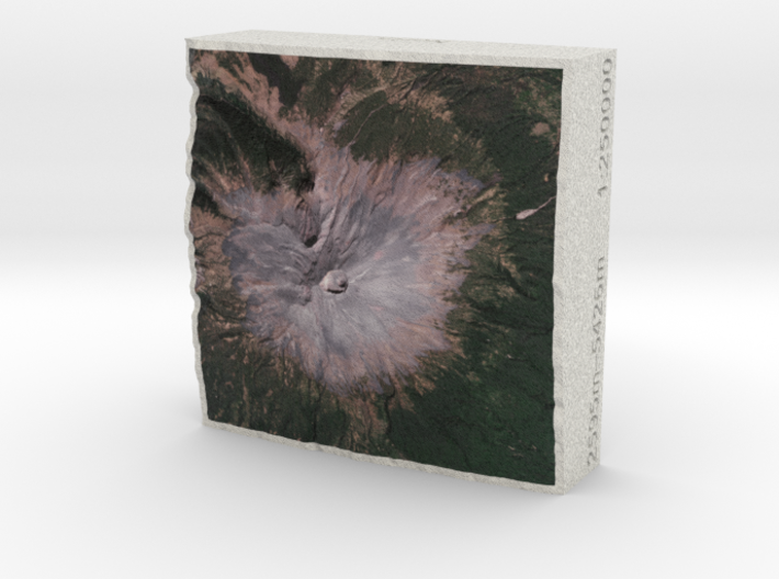 Popocatépetl, Mexico, 1:250000, Explorer 3d printed