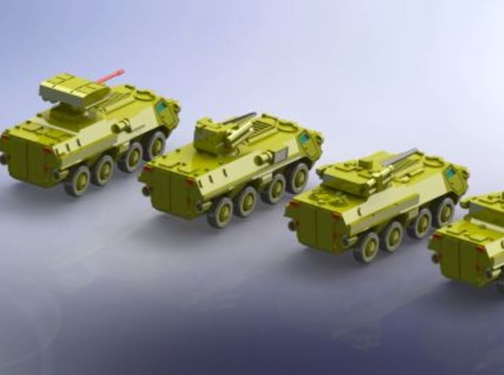 BTR-4 Ukranian APC Family 2  1/285 6mm 3d printed Add a caption...