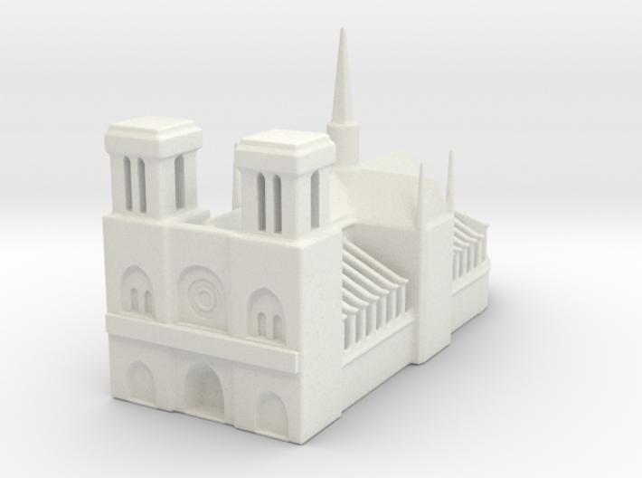 Notre Dame de Paris 1/1250 3d printed