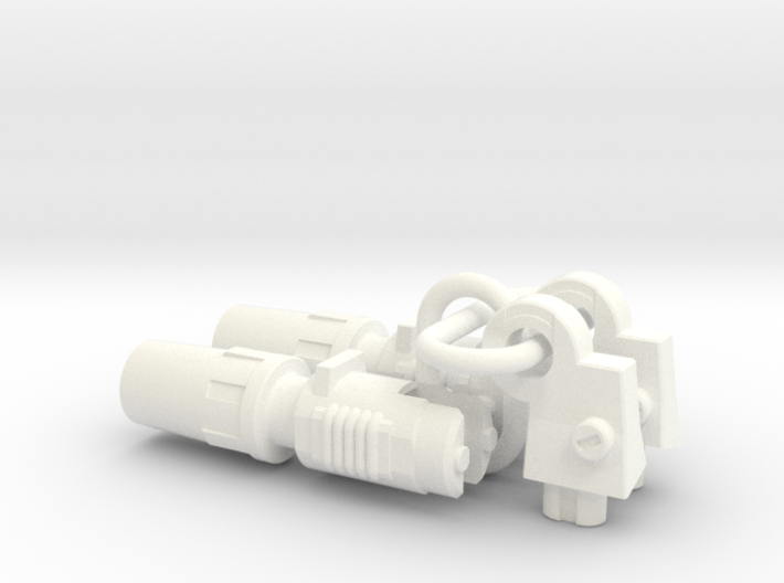 Silverblue Daemon's shoulder rocket launchers 3d printed