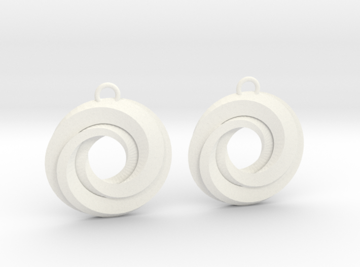 Geometrical earrings no.21 3d printed