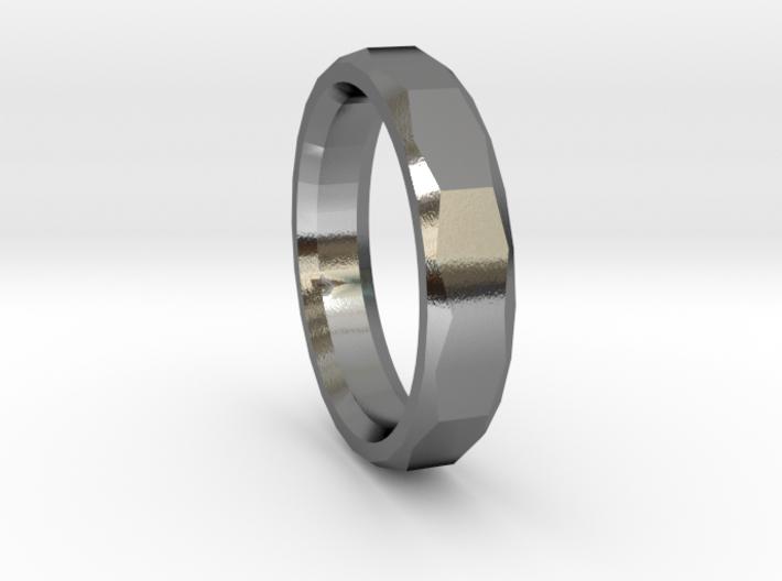 Geometric Men's ring 3d printed
