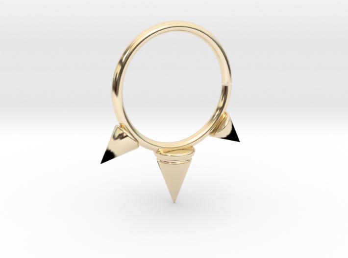 Triple Spike Seam Ring 3d printed