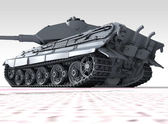 1/144 German Pz.Kpfw. VI Ausf. B (P) Tank 3d printed 3d render showing product detail