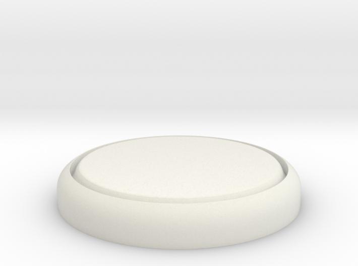 "Flat 1"" Circular Miniature Base Plate 3d printed"