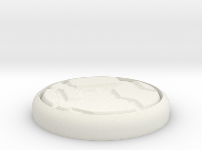 "Tech Panel 1"" Circular Miniature Base Plate 3d printed"