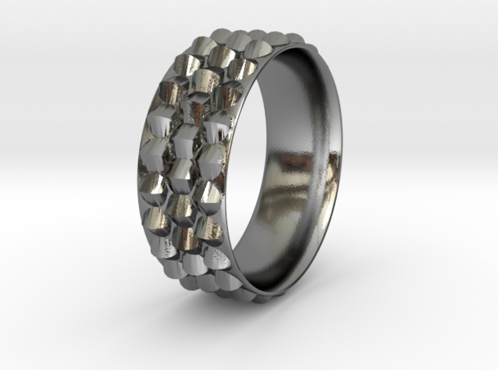 Dragon Scales Ring 3d printed