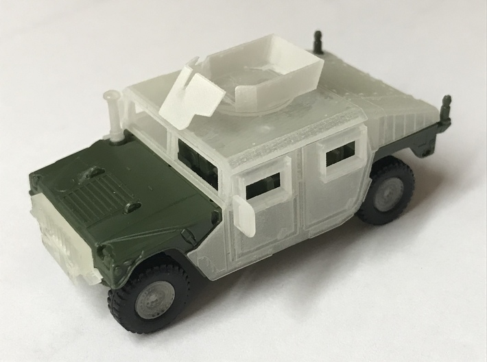 M1151 Humvee Armor w/ Gunner's Protection Kit 3d printed