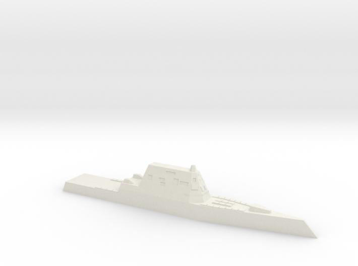 CG(X) w/ Zumwalt hull, 1/2400 3d printed