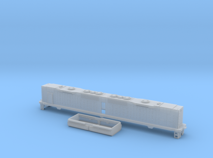 EMD DD35 With BM Pilots N Scale 1:160 3d printed