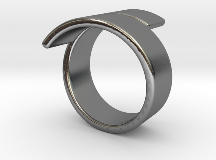 Band spiraled [sizable ring] 3d printed
