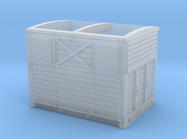 SER/Lbscr Horse Box Dia. 19B - N Scale (1:152) 3d printed