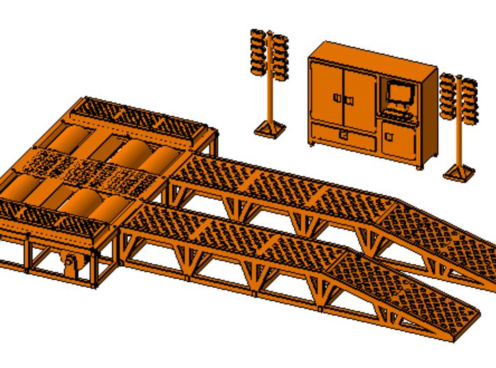 1/64th Dyno Dynamometer Shop Accessories Set 3d printed Shown with dyno platform, available separately