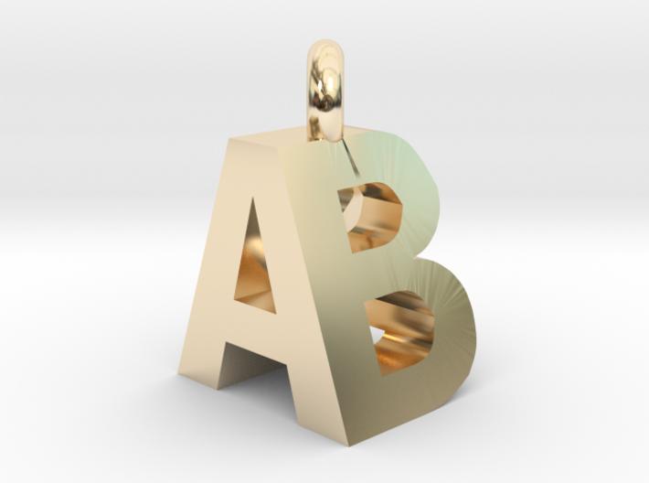 AB pendant top 3d printed