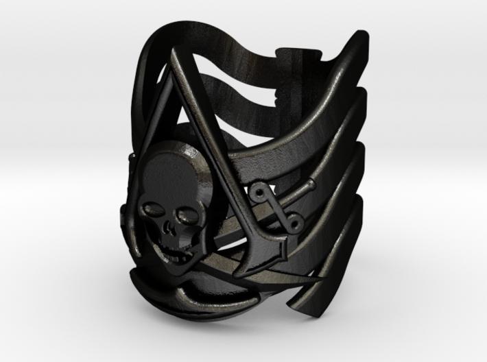 AC Black Flag Ring 15-22 3d printed