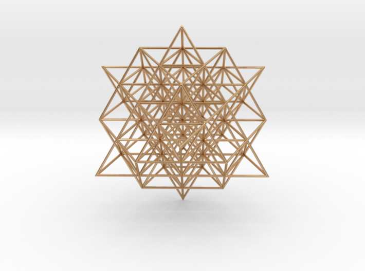 64 Tetrahedron Grid 5 cm. 3d printed