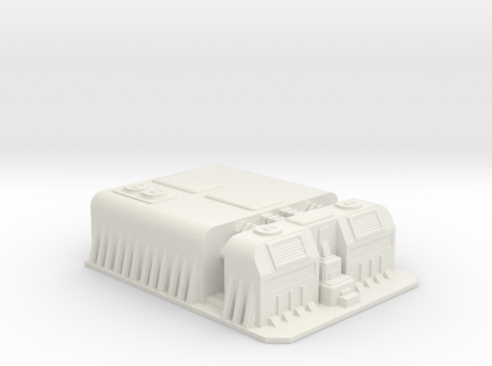 Sci fi factory/military compound 3d printed