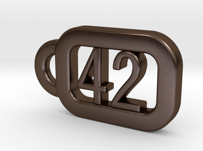 Keyring H2G2 - The ultimate answer is 42 3d printed