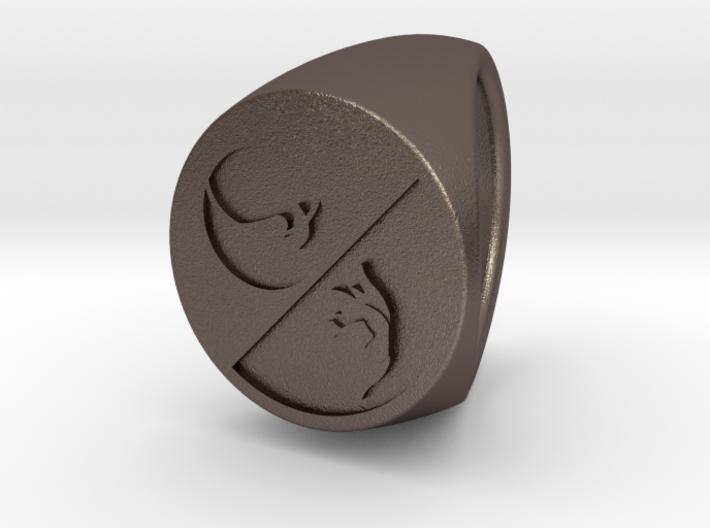 Custom signet ring 93 3d printed